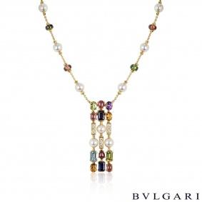 Bvlgari Yellow Gold Multi-Gem Allegra Necklace